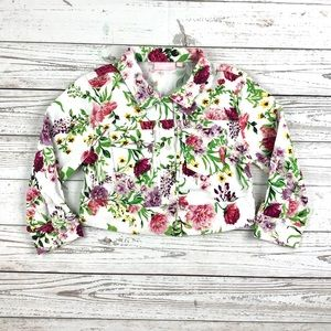 CycleBand floral cropped cotton jacket